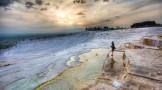 احساس آرامش در آبگیرهای آبگرم پاموک قلعه ترکیه