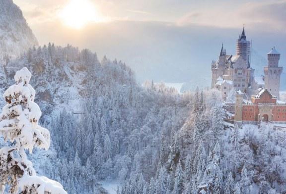 زیبا ترین قصرهای جهان در برف را ببینید