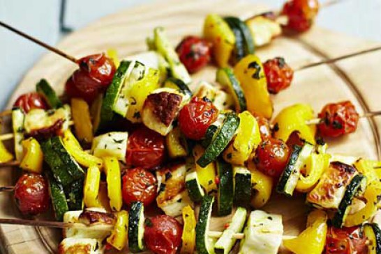 طرز تهیه کباب سبزیجات یونانی