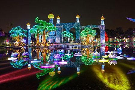 پارک زیبای نور دبی