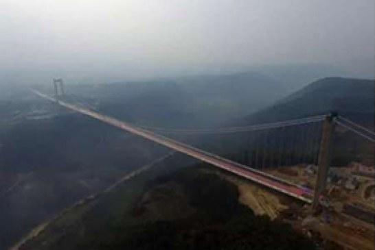 بلند ترین پل معلق آسیا در چین