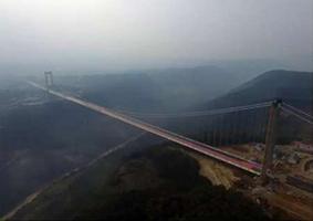 ساخت مرتفعترین پل معلق آسیا در چین