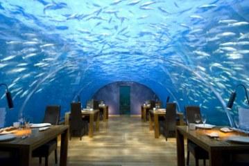رستوران ایتها در عمق آب های مالدیو