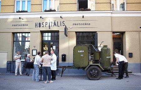 رستورانی شبیه به بیمارستان