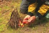 آموزش روشن کردن آتش در طبیعت