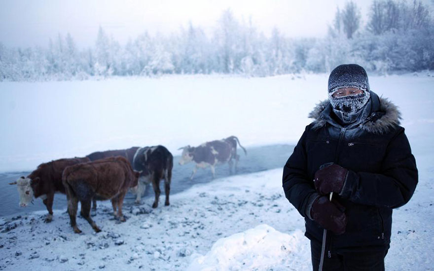 اویمیاکن، سردترین روستای جهان به روایت عکس
