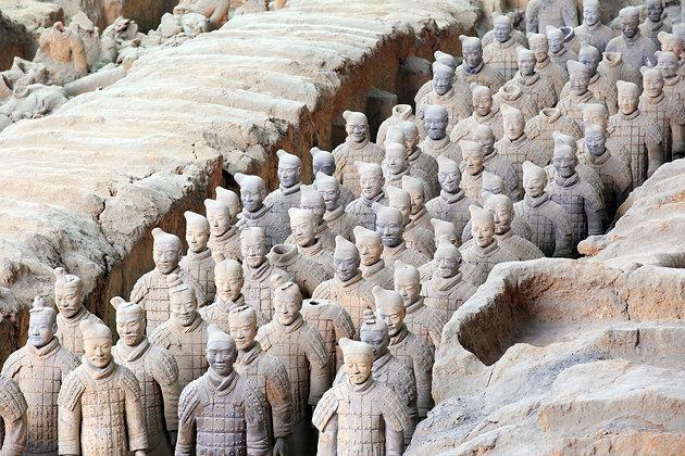 برترین جاذبه های گردشگری چین ارتش سفالین