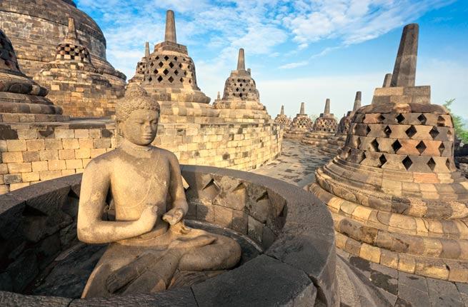 خرابه های شگفت انگیز و دیدنی در سراسر دنیا,بوروبودور-borobudur-indonesia