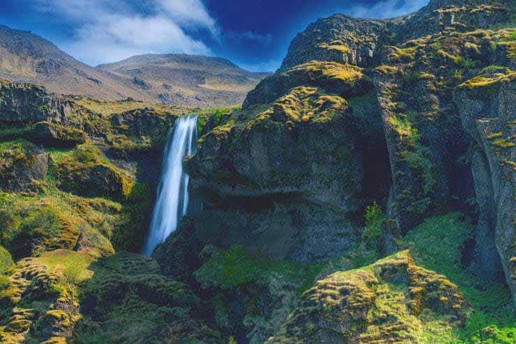 آبشار گلوفرافوس در ایسلند