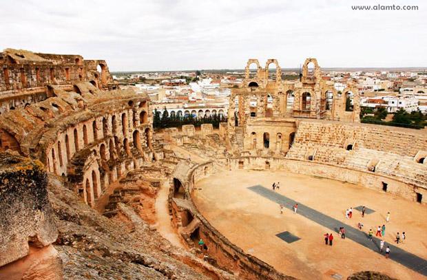 جاذبه های گردشگری کمتر دیده شده و آرام,El-Djem-Tunisia
