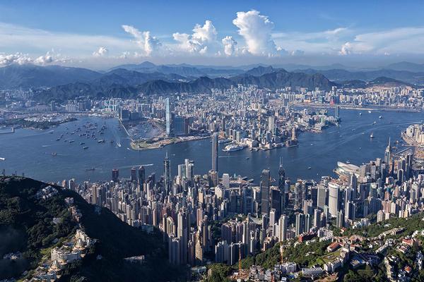 تصاویر هوایی از هنگ کنگ