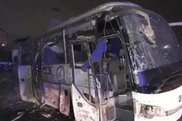 آتش سوزی اتوبوس گردشگری ایرانی در مسیر اربیل عراق