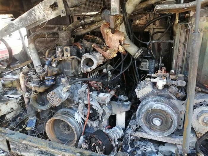 آتش سوزی اتوبوس گردشگری ایرانی