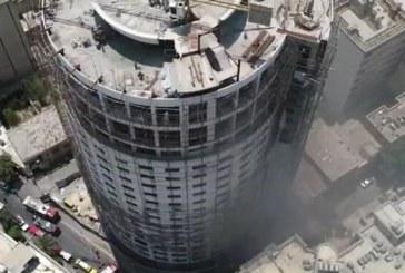 تخلیه ساختمانهای اطراف هتل آسمان ؛ احتمال ریزش هتل وجود دارد | دمای ۶۰۰ درجه در طبقات زیرزمینی هتل | مردم اطراف هتل نیایند
