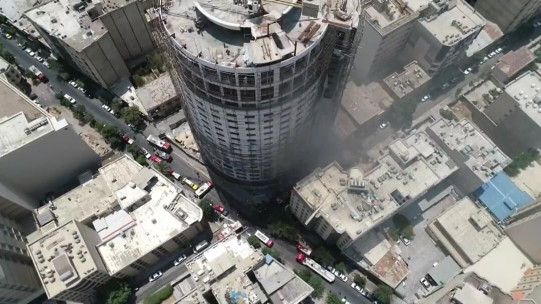 آتش سوزی هتل آسمان - هتل آسمان شیراز