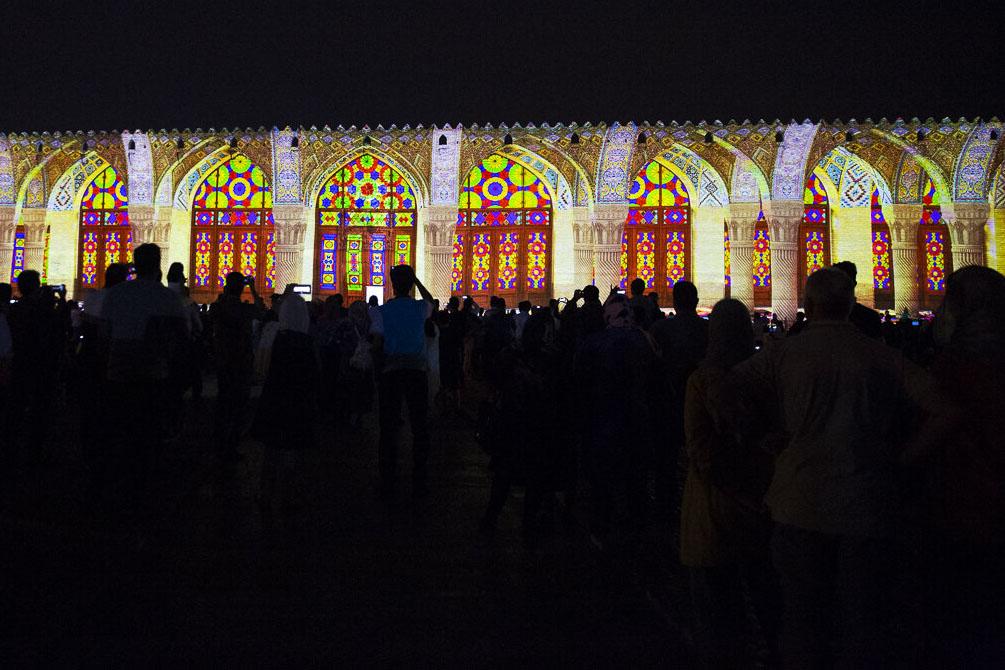 نورپردازی سه بعدی در ارگ کریمخانی شیراز
