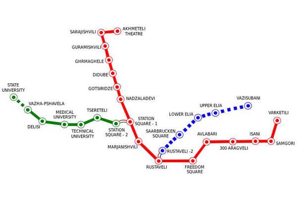 نقشه مترو تفلیس