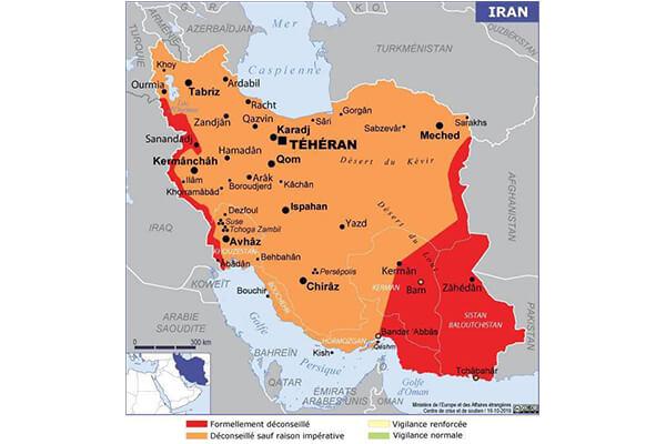 فرانسه ایران را منطقه نارنجی کرد