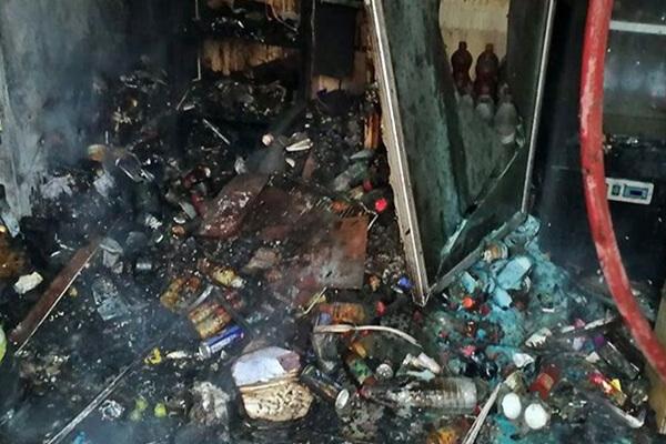 آتش سوزی در بازار رضا