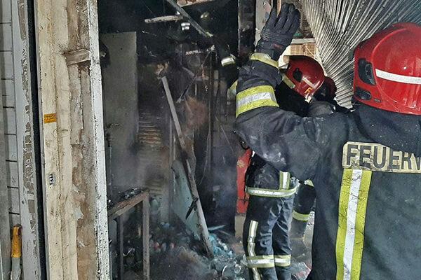 آتش سوزی در بازار رضا مشهد