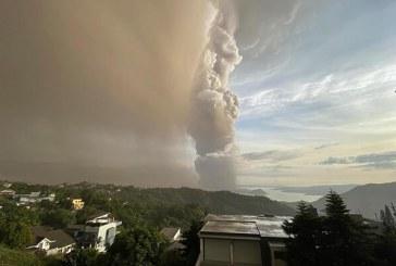 فوران آتشفشان تال در فیلیپین + فیلم و عکس