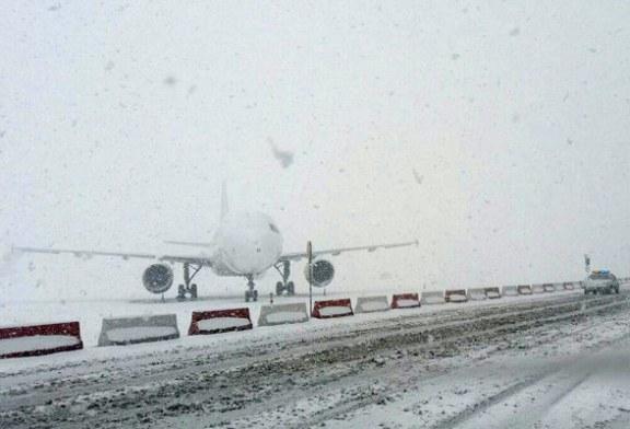 پروازهای فرودگاه مهرآباد به دلیل بارش برف لغو شدند