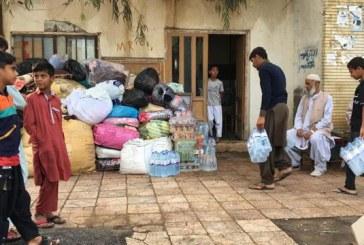 قطع شدن راه ارتباطی روستای عورکی و همکاری مردم برای امدادرسانی + فیلم